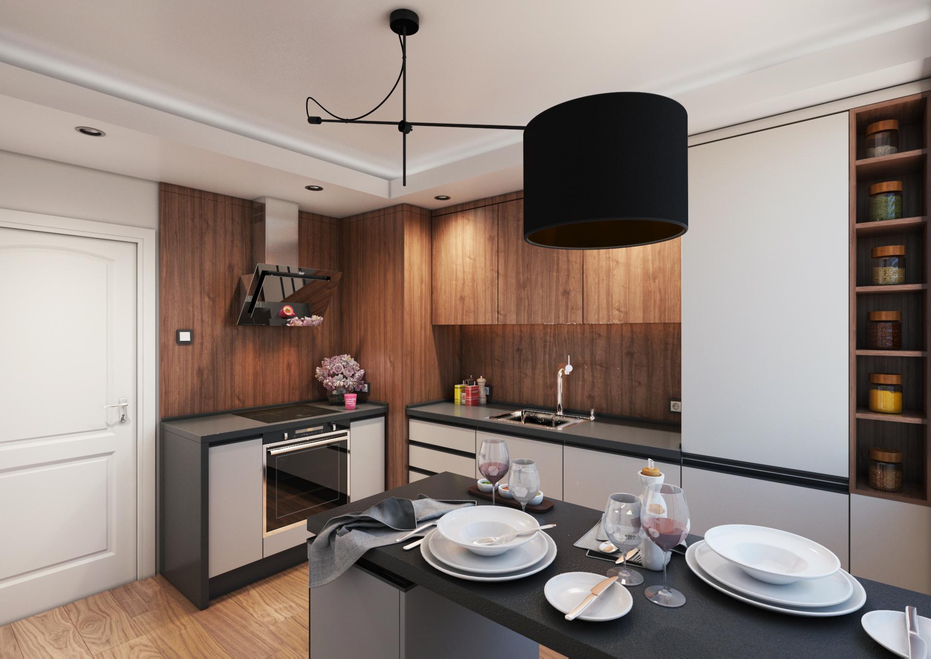 Кухняи тераса в панелен апартамент